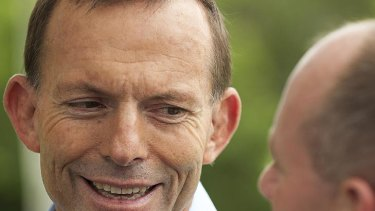 Federal Opposition Leader Tony Abbott joins Campbell Newman on the campaign trail in the seat of Ashgrove.