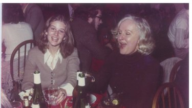 Susan as a teenager with her mother, a happy twosome until they had to make room for others.