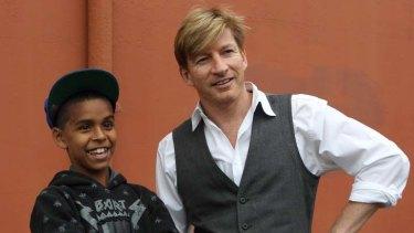 Co-stars … Daniel ''DJ'' Mundine and David Wenham.