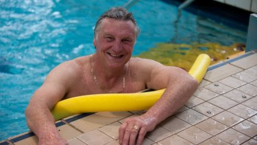 Chic Henry during an aqua aerobics class at the AIS.