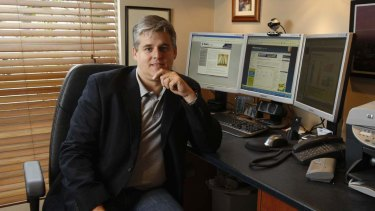 Under attack ... Michael Gilmour is on a mission to eliminate click fraud from the domain name industry.