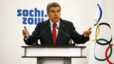 """""""What is important is that we see the system works"""": IOC president Thomas Bach."""
