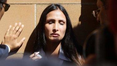 Distraught: Simon Gittany's girlfriend Rachelle Louise.