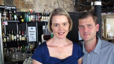Brisbane Brewhouse owners Grand and Michelle Clark.