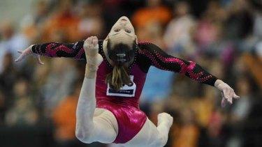 Superstar ... Lauren Mitchell carried off the world artistic gymnastics individual floor title in Rotterdam.