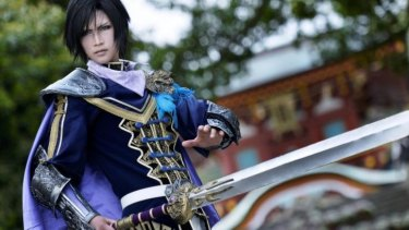 Visiting: Japanese cosplayer Reika Arikawa as Cao Pi (Souhi) from Dynasty Warriors 8.