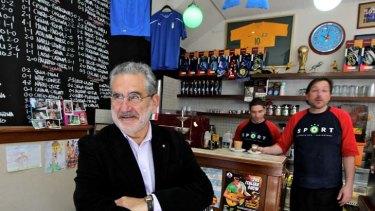 Gianfranco Cresciani in Bar Sport in the Sydney suburb of Leichhardt.