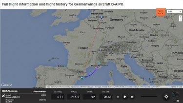 The Germanwings flight 4U9525 was off course as reported by live air traffic website FlightRadar24.