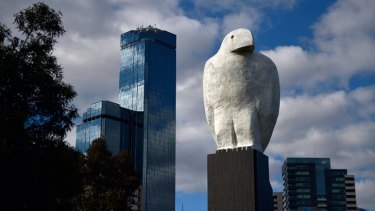 Giant sculpture will have to go... Bunjil, currently situated at Docklands.