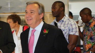 Antonio Guterres ... called for moral leadership on refugees.