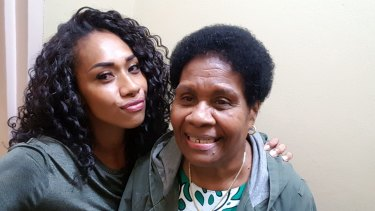 Paulini and her mum, Miliana.
