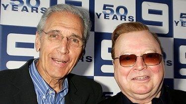 Don Lane with long-time friend Bert Newton.