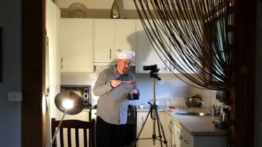 Jason Pinder makes his money from short cooking demonstrations via YouTube.