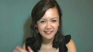 Natalie Tran in a still from one of her YouTube clips.