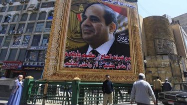 Former army chief Abdel Fattah al-Sisi is expected to easily win the presidency.