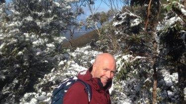 Flanagan on Mount Wellington.