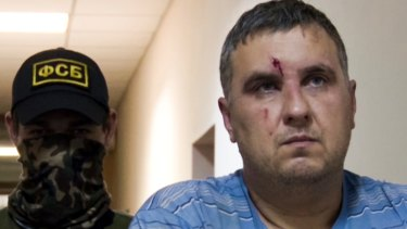 """A man identified as Yevgeny Panov, arrested by Russia over his alleged connection with Ukrainian """"saboteurs"""", is seen earlier this month."""