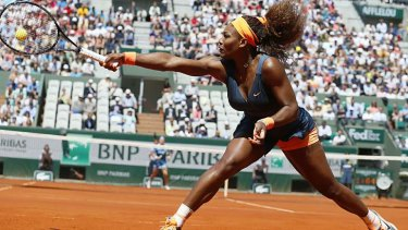 At full stretch: Serena Williams.