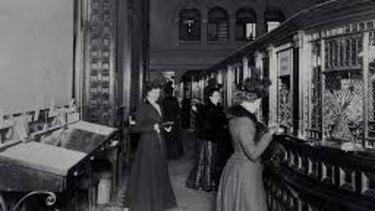 bank teller vintage