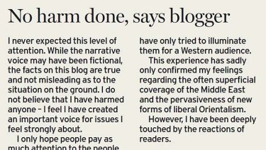 Blogger's letter.
