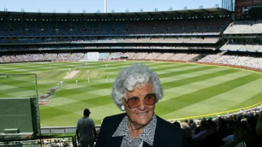 Betty Wilson, Australia's greatest female cricketer, pictured at the MCG in 2007.