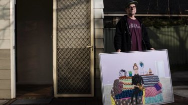 """""""I was just so scared and nervous"""", said  artist Marc Etherington of painting his Archibald Prize portrait of Del Kathryn Barton."""