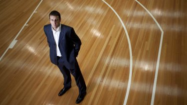 Basketballer Andrew Bogut at his sports centre in Carrum Downs.