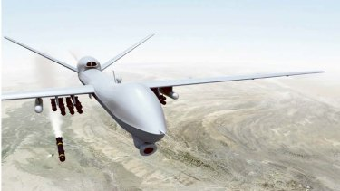 Reaper ... drops 225kg laser-guided bombs.