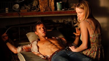 Australian actor Ryan Kwanten in a scene from the HBO television series True Blood.