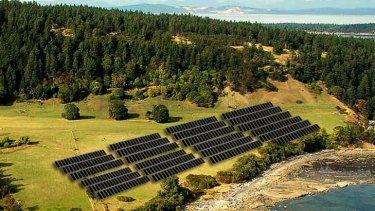Solar panels .. rural districts are leaving the city for dead.