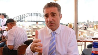"Paul Nicolaou ... ""I can't rock up and say, 'Listen, I want this, minister ..."""
