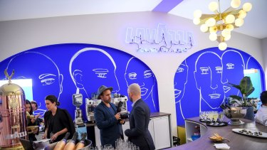 Art and design are at the centre of the Neale Whittaker-designed Lavazza marquee.