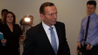 Prime Minister Tony Abbott in Canberra. Labor has accused the government of daring the states to ask for a rise in the GST.