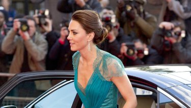 Her Highness ... Kate Middleton favours fashionably high heels.