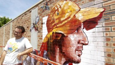 """It's the first mural of its kind in the area"": Fintan Magee."