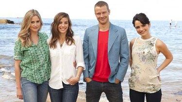 <i>Wonderland</i> cast - from left, Anna Bamford (Miranda), Brooke Satchwell (Grace), Michael Dorman (Tom) and Jessica Tovey (Dani).