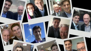 George Megalogenis selfies with politicians.