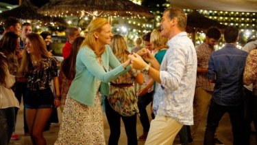In step: Toni Collette and Pierce Brosnan star in <i>A Long Way Down</i>.