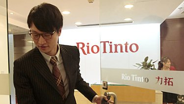 Stern Hu at the Shanghai offices of Rio Tinto.