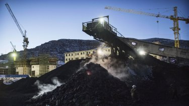Coal mines such as this one in Shanxi, China, are being shut down for environmental reasons.