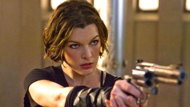 """As a kid I never got off on seeing big, muscular men with guns"" ... Milla in <em>Resident Evil: Afterlife </em>"