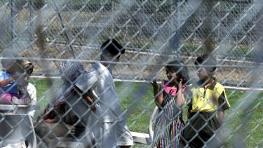 Children at Villawood Immigration Detention Centre.