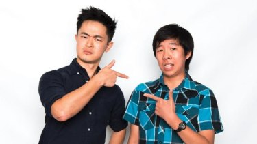 Writer Benjamin Law with young actor Trystan Go, who is portraying him in the new SBS TV series The Family Law.