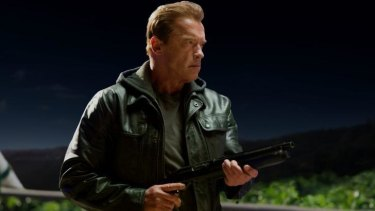 "Terminator time: Arnold Schwarzenegger returns as an ""ageing"" cyborg in <i>Terminator Genisys</i>."