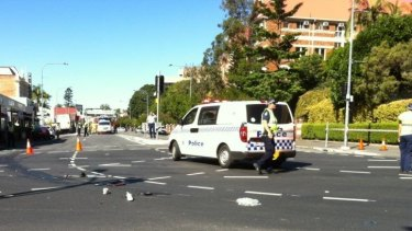 A young cyclist has been killed in a crash with a semi-trailer.