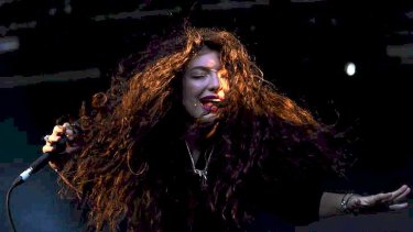 Lorde performs at the Laneway Festival.