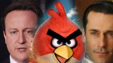 For the birds ... David Cameron and John Hamm.