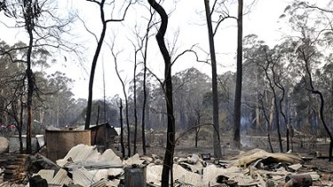 A burnt-out house in Narbethong.
