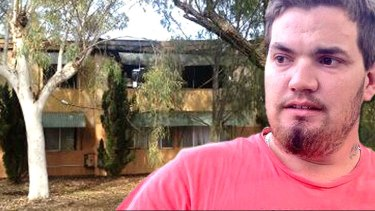 Ricky Bromfield, 24, risked his life to save his neighbour from his burning unit after it exploded. Photo: Peter Kapsanis, Channel 9