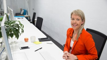 Kirsty Angus has a very tidy desk at her Surry Hills advertising agency.
